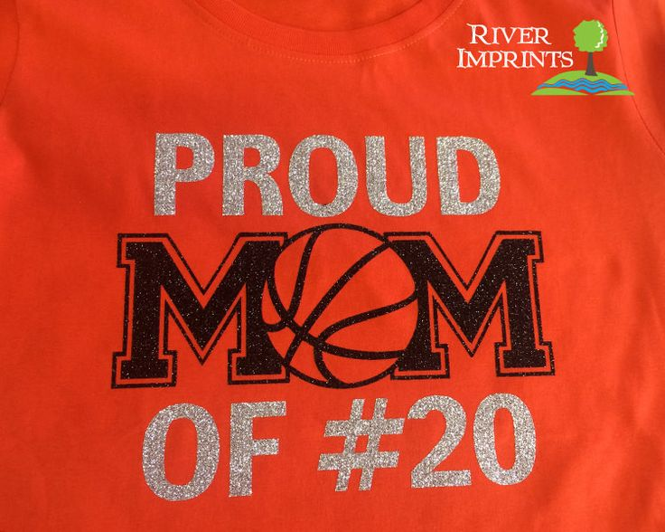 PROUD MOM OF #, sparkly Basketball glitter shirt - Choose from a Regular Unisex or Ladies' Fitted Fitted tee