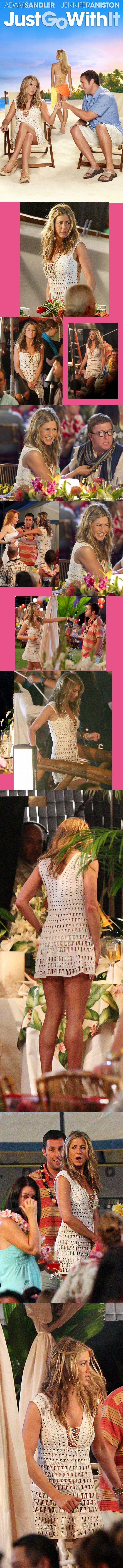 Jennifer Aniston, no filme Just Go With It, usando modelo de Anna Kosturova.
