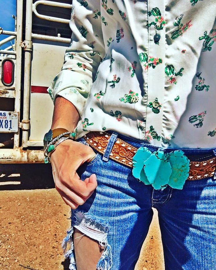Cactus Shirt $29.98 Turquoise Buckle $45.00 Redford Ranch Style