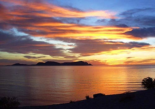 Sunrise over the Water near San Felipe #Baja