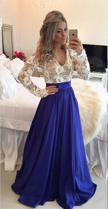 Roysl Blue Evening Dresses,Prom Dresses For Teens,Mother Of Bridal Dress,Lace and Appliques Prom Dresses, A-Line Prom Dresses, Chiffon Prom Dresses, Long Prom Dresses, Cheap Prom Dresses, Dresses For Prom