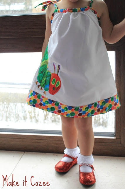 Very Hungry Caterpillar Party Dress with step by step tutorial.