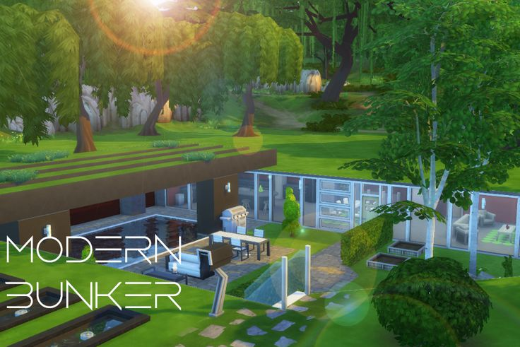 My Sims 4 lot build: Modern Bunker by LiseHaidee Download it from the gallery and enjoy!
