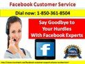 """Which Type Of Issues Resolved By Facebook Customer Service 1-850-361-8504 Team?""""Below mentions Facebook issues are resolved by our Facebook Customer Service team:- • Problem with account setting in Facebook. • Facing problem in Facebook apps and games. • Falling to editing your details.  To solve your Facebook hurdles, you can call us at 1-850-361-8504. To get more advance services click here http://www.monktech.net/facebook-customer-support-phone-number.html  or…"""