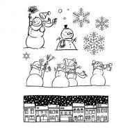 Scrapbook, cardmaking, project life | Artemio - silikonová razítka SNOWMEN STREET - scrapbook
