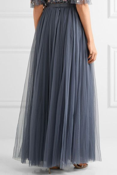 Needle & Thread - Tulle Maxi Skirt - Storm blue - UK12