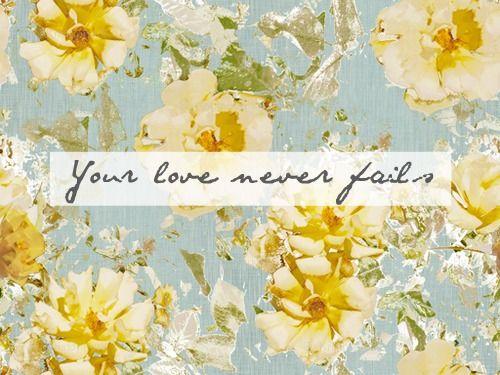 tu amor nunca falla