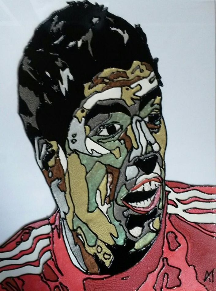 Luis Suarez Glass Painting https://www.facebook.com/AngiesGlassworks?fref=ts