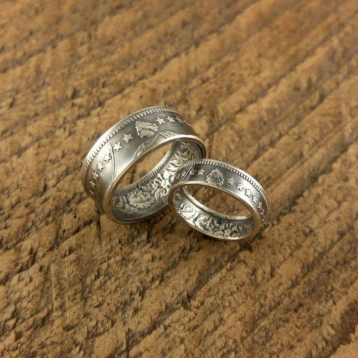 星好きにオススメのスイスの2フラン&1フラン銀貨ペア  裏面の花柄エタニティも良い感じかと思います  #coinring #coinjewelry #pairing #pair #love #couple #marriage #bridal #ring #eternity #star #swiss #helvetia #silvercoin #silver835 #japan #tokyo #shibuya #yoyogi