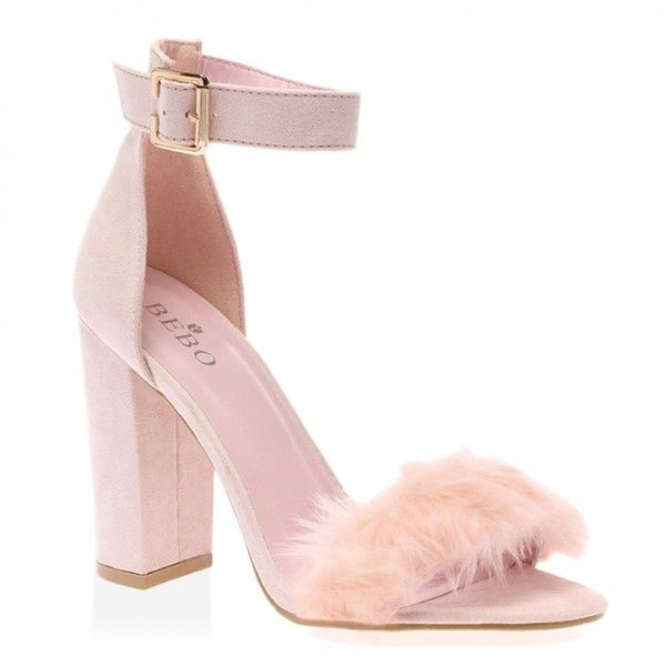 Celine Pink Faux Suede Block Heels ($29) ❤ liked on Polyvore featuring shoes, pumps, heels, pink high heel pumps, heart pump, platform heels pumps, high heel platform shoes and block heel pumps