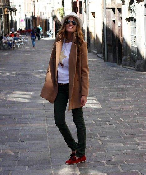 Choies Coat, Piel De Toro Pants, Panama Jack Shoes