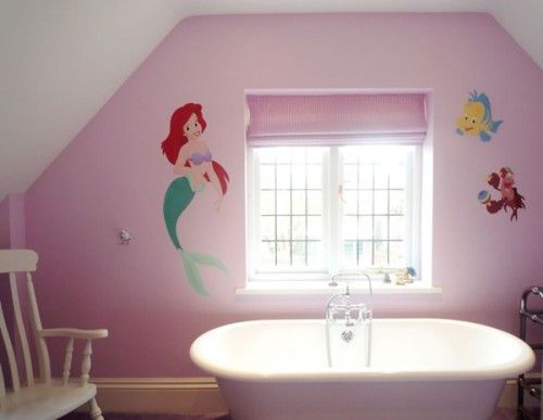 Cute little girl bathroom