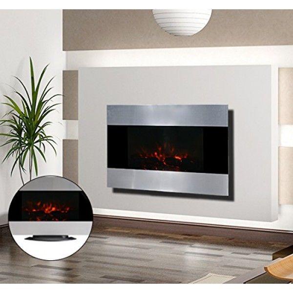 ¿Quieres una preciosa chimenea eléctrica? Ahora está a tu alcance. Es ideal como calefacción y como elemento decorativo en tu hogar. Las llamas de fuego son de LED con un efecto muy real. TIene cristal de seguridad. Medidas: 90x9,5x56cm.  Puedes comprarla online en https://www.aosom.es/hogar/chimenea-electrica-de-pared-90x9-5x56-cm-chimeneas-y-estufas-led-color-plata-nue.html con envíos gratis a España y Portugal en 24h/48h.