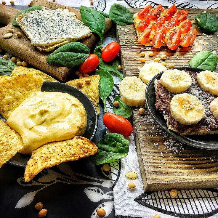 Веганский сырный соус, Нутелла, Тахини, хумус