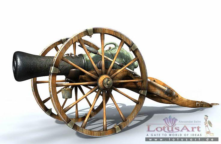 3D Modellierung der Kanone, Alexander Beim
