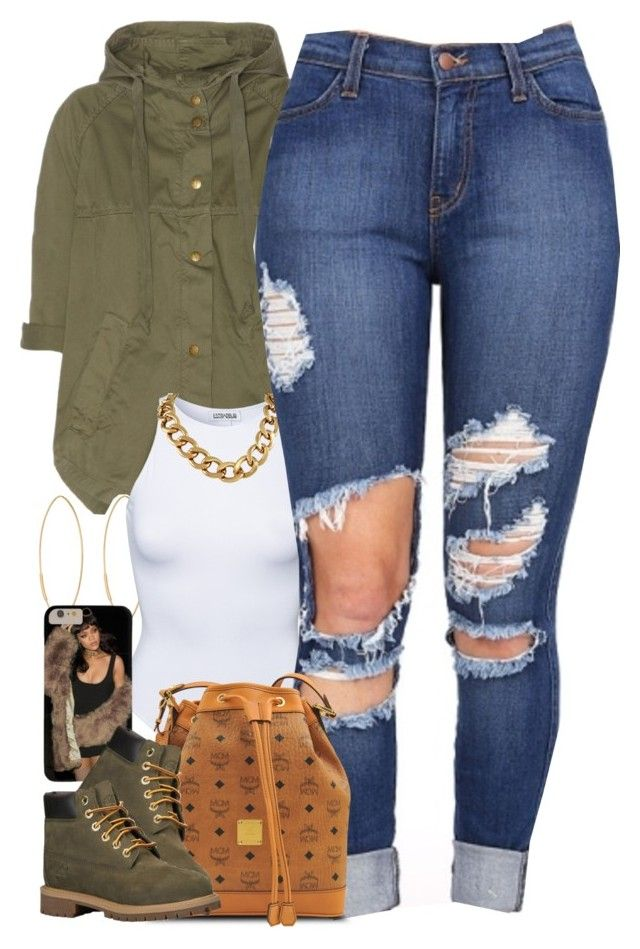 """""""Untitled #1462"""" by power-beauty ❤ liked on Polyvore featuring moda, Current/Elliott, Lana, Estradeur, MCM ve Timberland"""