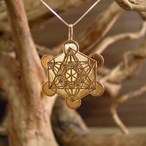 "Metatron Cube Gold - Cross culture, sacred geometry symbol for inner peace and spirituality. The Metatron Cube A known harmonious structure from sacred geometry named after the Archangel Metatron.  Metatron appears in Jewish tradition, Christian tradition, and in some aspects of Islam.  Metatron is in charge of all of creation and is considered an Arch angel as well as a judge.   The structure of  Metatron cube arises from the structure of the ""Fruit of Life"" and  found around the world …"