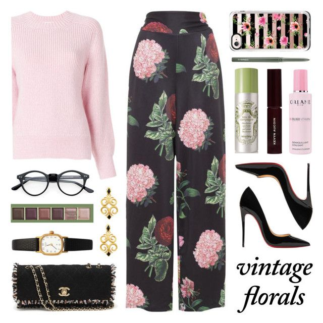 """""""Vintage Florals"""" by lgb321 ❤ liked on Polyvore featuring Pixi, 3.1 Phillip Lim, Voodoo Vixen, Christian Louboutin, American Apparel, Orlane, Chanel, Kevyn Aucoin, Casetify and MAC Cosmetics"""