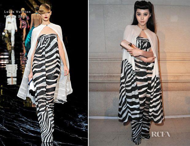 Very rare that an actress rocks it better than the runway model. Fan Bingbing in Louis Vuiton Spring 2011.