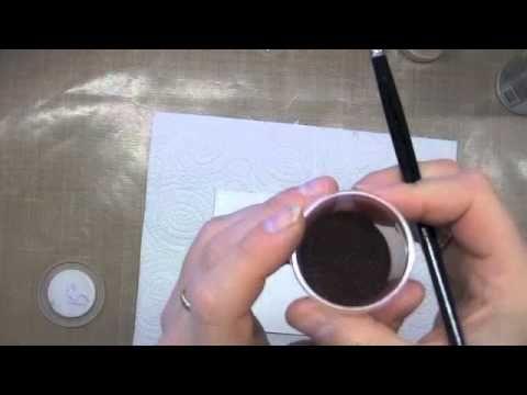 kitty's craft tutorial - bister en embossing