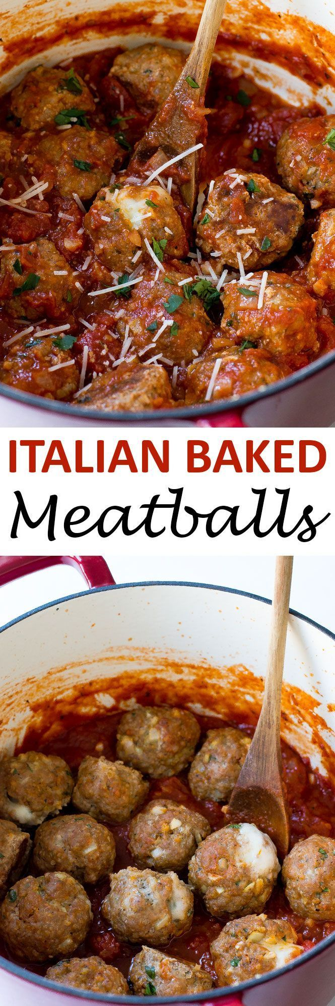 Baked Turkey Pesto Meatballs stuffed with mozzarella cheese! These meatballs are amazing and loaded with tons of flavor! | chefsavvy.com #recipe #Italian #baked #meatballs #turkey #pesto
