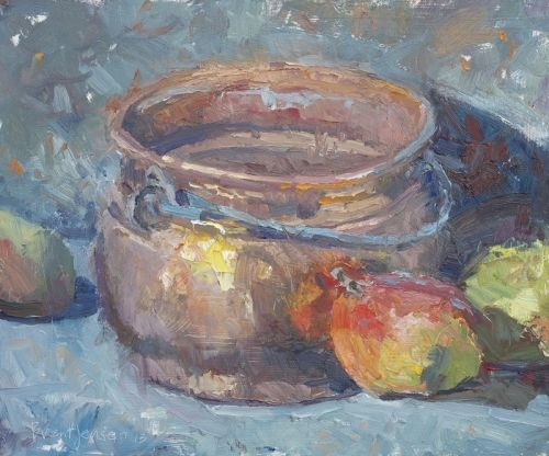 Copper Pot and Mangoes