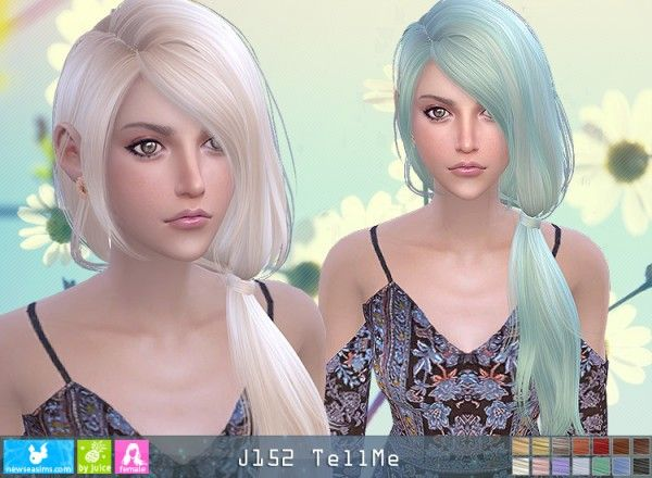 NewSea: J152 Tell Me donation hairstyle • Sims 4 Downloads