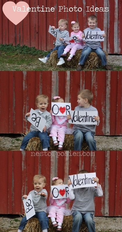 Valentine photo session.  Grab a sharpie & some paper & let your kids run with it!  Because it doesn't get any better than this!