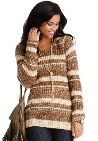 body central clothing | TONAL LUREX STRIPED SWEATER | Body Central