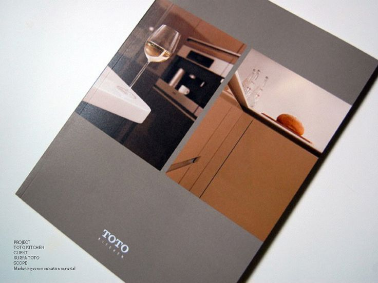 Modern, savvy TOTO Kitchen marketing communication material in collaboration with Yuni Jie and Leonard Theosabrata. Fabulous photography by Martin Westlake.
