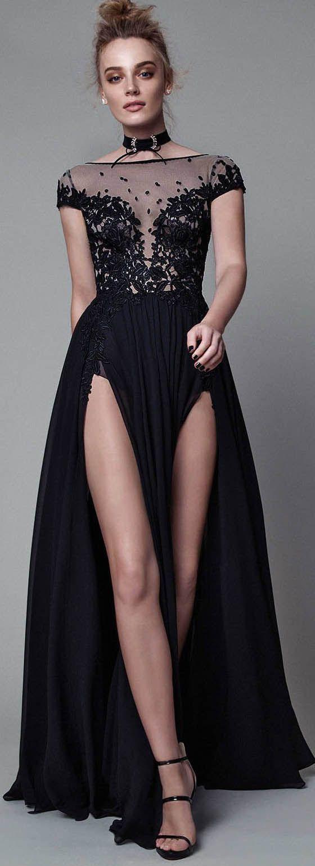 Cap Sleeves Sexy Split Black Cheap Long Evening Prom Dresses, WG1021 #promdress #longpromdress #eveningdress