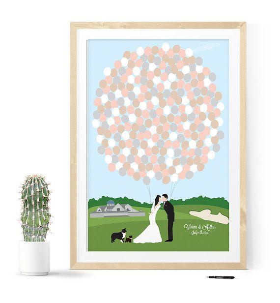 Golf Course Wedding Ideas: Golf Course Wedding Guest Book Alternative