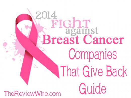 #BreastCancerAwareness: Companies That Give Back 2014 Guide #BCA #ThinkPink