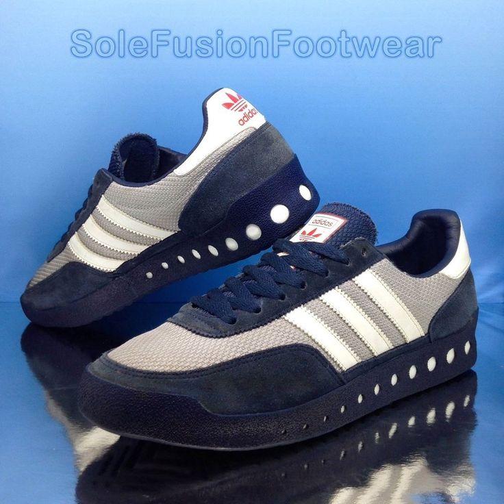 adidas Originals Mens PT 70s Trainers Blue sz 8 Retro Running Sneakers US  8.5 42 |