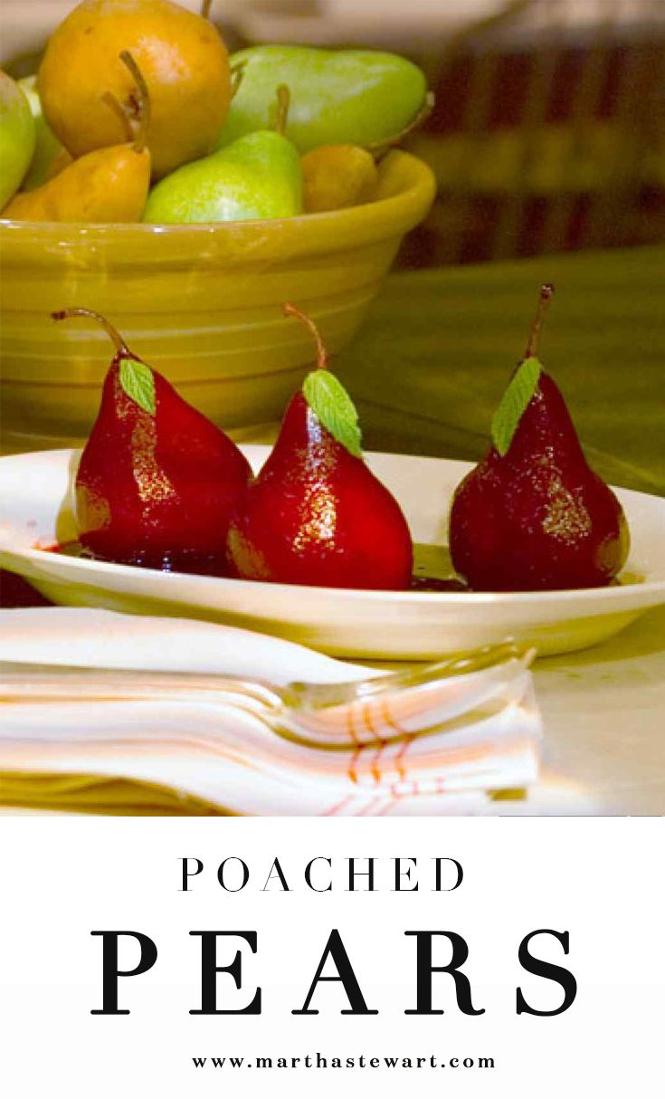 Poached Pears | Recipe | Poached pears, Sweet and Wells