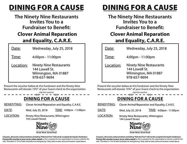 Only A Few Days Call Ahead The Day Of And Make Sure You Get A Seat Bring This Flyer When You Eat In Or Dine Out Dogs Animals Anim Care Flyer