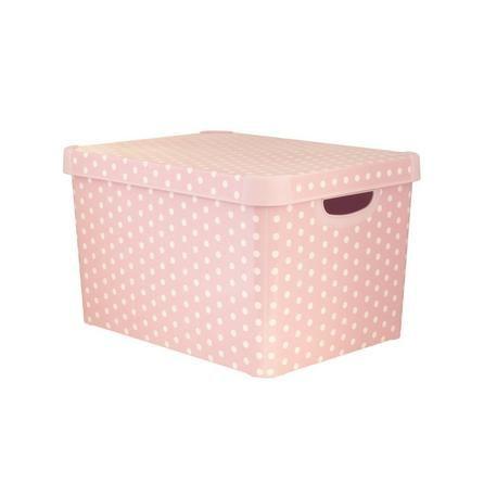 Dunelm Kids Dusky Pink Storage Box
