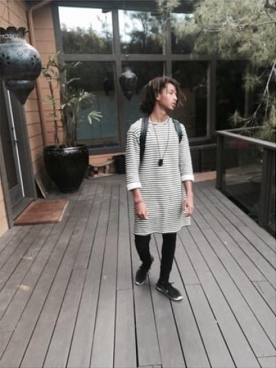 Jaden Smith. Not girl clothes. Just clothes