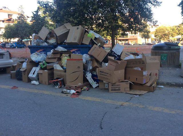 Πιερία: Κατερίνη: Πάρτι κάνουν τα σκουπίδια!