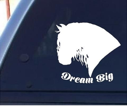 Friesian Drum Horse Custom Window Decal Sticker
