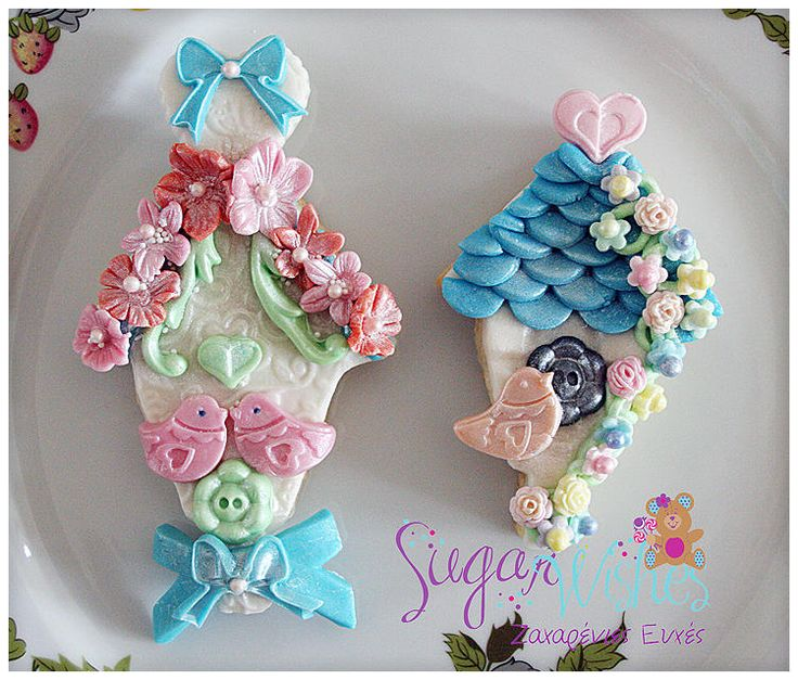 Bird Houses #edible Baby Shower Favors, #baby Shower Cookies, #baby Shower