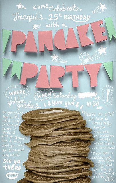 pancake party invites | invitations and cards | Pinterest ...