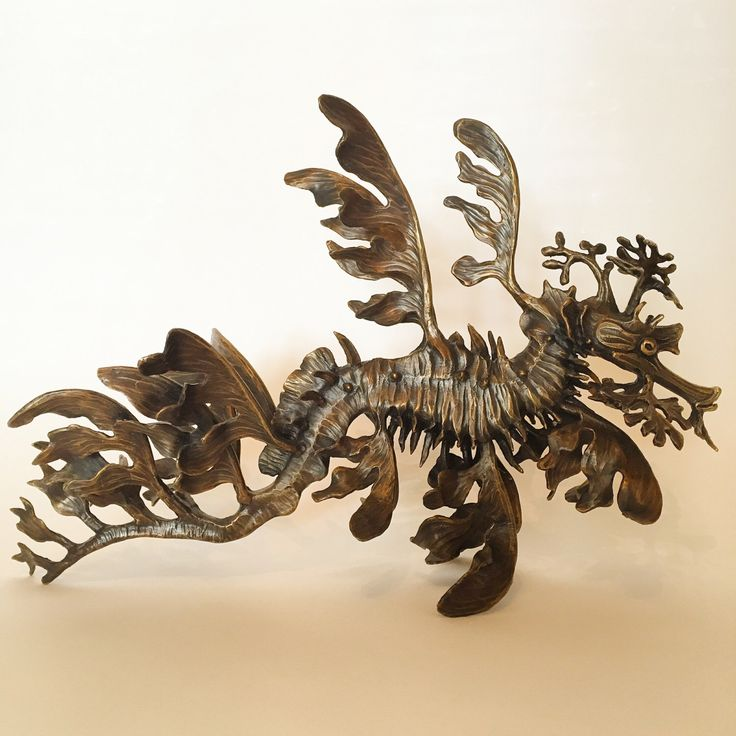 Excited to share the latest addition to my #etsy shop: Leafy sea dragon sculpture ( horizontal )
