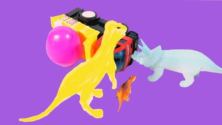 Jurassic World Surprise Dinosaurs egg | Toys Egg Hunt  excavator & toy c...