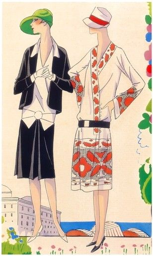 Art Deco Fashions - Spring, 1926 - Designers Philippe & Gaston and Lucien Lelong