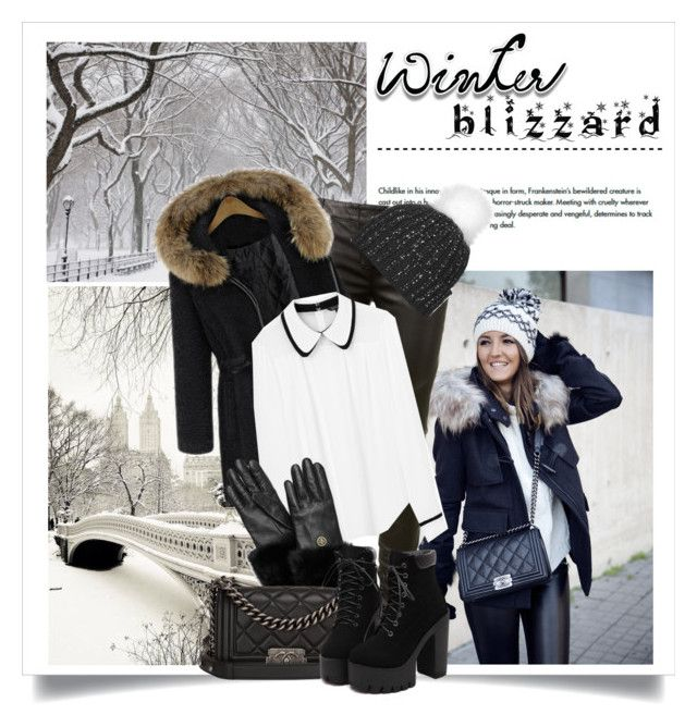 Brrrrr! Winter Blizzard by danielle-broekhuizen on Polyvore featuring Tara Jarmon, Balmain, Chanel, Tory Burch and Topshop