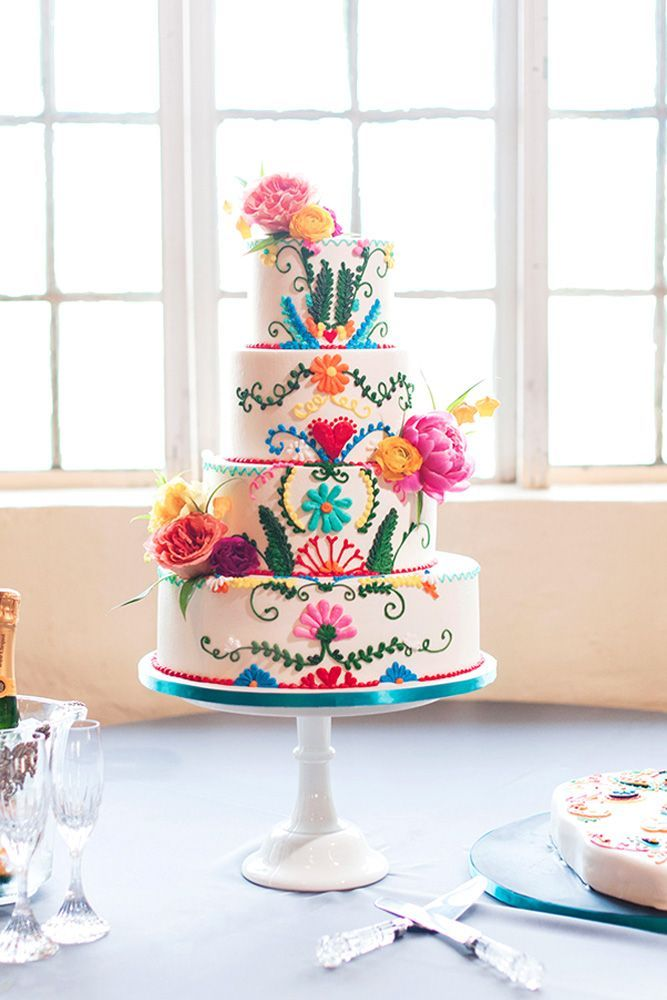 Mexican wedding cake could be very funny and creative. There are four rules for such kind of cake creation. See our gallery and look for the bonus!