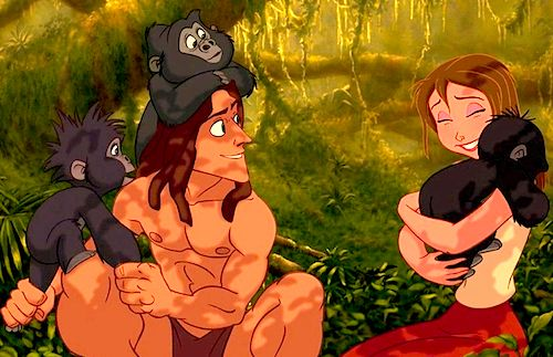 Day 29: Favorite overall moment. When Tarzan takes Jane to see the gorillas and teaches her to speak Gorilla.
