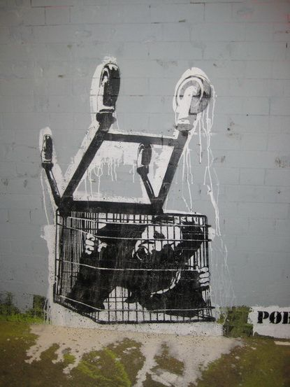 Banksy depicting consumerism