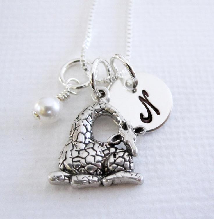 Giraffe Jewelry  Sterling Silver Giraffe by PatriciaAnnJewelry, $33.50